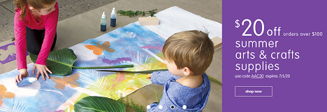 ARTS & CRAFTS PRODUCTS ON SALE! Save 20% OFF Select Arts & Crafts Plus Free Shipping!