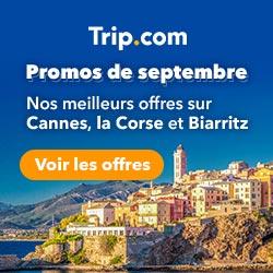 Promos de septembre ! Nos meilleurs offres sur Cannes, la Corse et Biarritz !