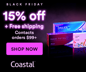 FREE Shipping + Save 15% off Contact Lens orders over $99. Use code FRIDAY15