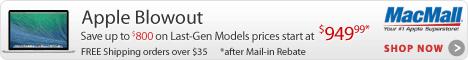 Apple Blowout at MacMall.com