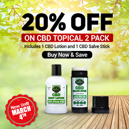 Banner announcing Eden's Herbals 20% Off Topical 2 Packs Sale