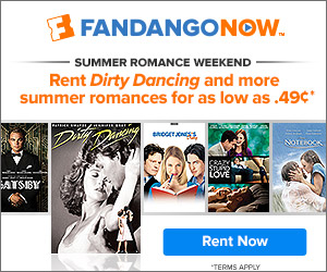 FandangoNOW - this weekend only - Rent Dirty Dancing for only $.49 + other great titles for $1.99