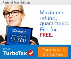 FREE Turbo Tax account...