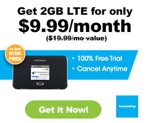 FreedomPop Promotions 2017 - 2GB LTE only $9.99/month