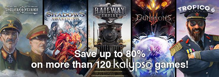 GamersGate - Get Up To 80% on More Than 120 Kalypso Games