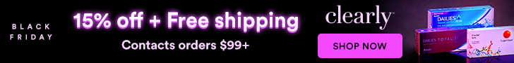 FREE Shipping + Save 15% off Contact Lenses orders over $99 at Clearly. Use code FRIDAY15