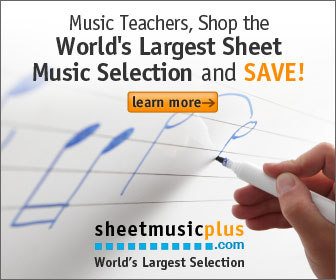 Sheet Music Plus 336 x 280 Teacher Banner
