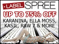 Save up to 75% on Designer Apparel at LabelSpree