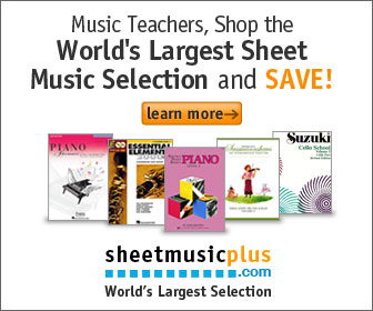 Sheet Music Plus 336 x 280 Teacher Banner 2
