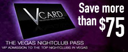 V Card: The Vegas Nightclub Pass - Exclusive Offer Save over $75!