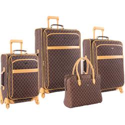 Pierre Cardin Signature 4 Piece Spinner Luggage Set