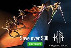 KA - Cirque du Soleil Special Offer: Save $30 באנר