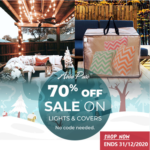 Big Sale! 70% Off Sale on Lights & Covers Plus Free Shipping! No Code Needed! Ends 12/31/2020.
