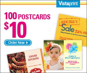 Vistaprint: 100 Postcards for.