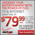 Verizon FiOS TV+Internet for $79.99/mo