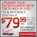 Verizon FiOS TV+Internet for $79.99/mo