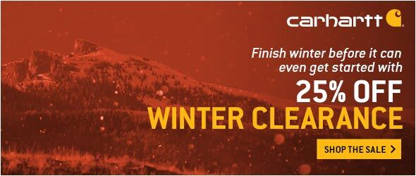 590x250 25% Winter Clearance Banner
