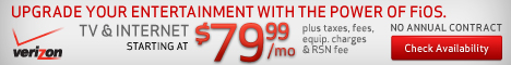 Verizon FiOS TV+Internet for $79.99/mo for 1 year
