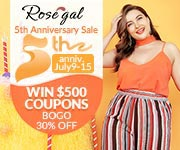 Rosegal 5th Anniversary Promotion