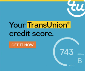 NEW - Paid Product Offer ONLY- TransUnion Credit Monitoring 300x250