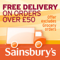 Sainsbury's + Free Delivery - 125x125