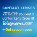 Discount 20% OFF your Contact Lens order (no minimum).