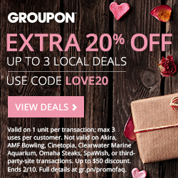 Offer: 20% Off Up To 3 Local Deals Code: LOVE20