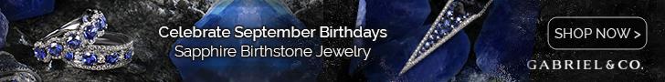 Sapphire September Birthstone Fine Jewelry Banner