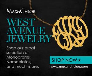 Shop West Avenue Monogram Jewelry at Max & Chloe