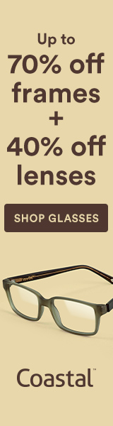 Clearance Sale! Up to 70% frames + 40% off lenses at Coastal. Shop now with code: LENSUP40