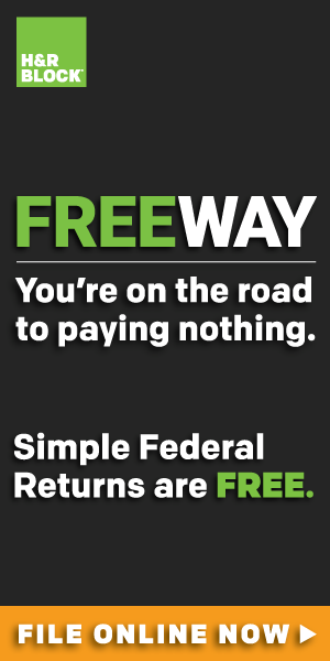 Online - H&R Block Free Edition 300x100