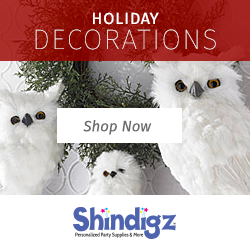 Shop for Holiday Decorations, Party Supplies, and more w/ Shindigz Promo Code