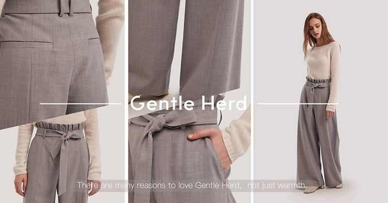 These trousers combine elements of smart tailoring and practical styles. The wide legs enhance the e
