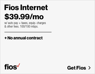 Fios 100/100 Mbps Internet for $39.99/mo for 1 yr with no annual contract (auto pay rqd).