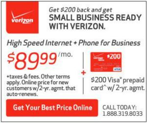 Verizon Business Internet+Phone starting at $84.99/mo+ no activation fee+router included. Online only!