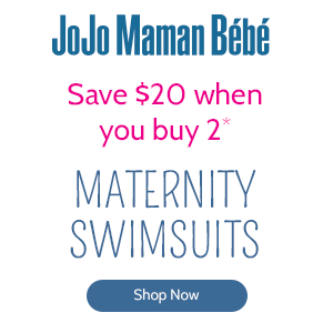 Save $20 when you buy 2 Maternity Swimsuits at JoJo Maman Bébé