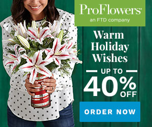 ProFlowers Promo Code December 2018 - Up to 40% off Holiday Flowers & Gifts at ProFlowers