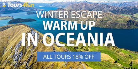 Winter Escape to Oceania Promo: All Tours 18% Off