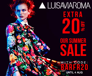 Bargain Avenue Exclusive Offer Further Reduction 20% on Sale Items  at Luisaviaroma.com