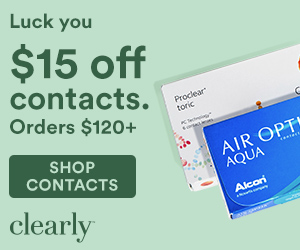 Save $15 Off on All Contact Lens Orders over $120 at Clearly! Shop now through 4/01 with code: COZYU