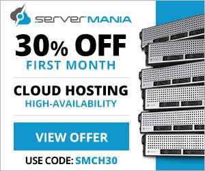 30% off ServerMania Cloud Servers