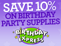 10% off at Birthday Express