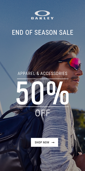 Oakley Sale! 50% Off Apparel and Accessories
