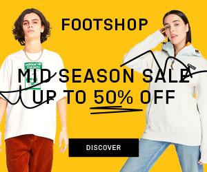 FootShop - FootShop Coupon, FootShop PromoCode, FootShop Deal MID SEASON SALE sale up to 50% off