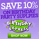10% off orders $50 or more from Celebrate Express