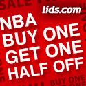 NBA - Buy One Get One Half Off at lids.com