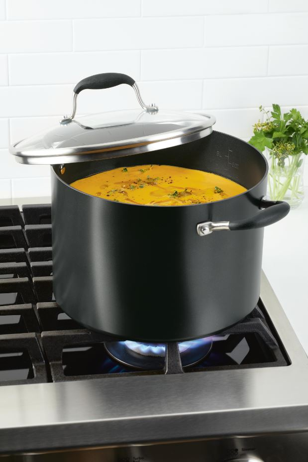 Anolon Advanced Home Stockpot with Soup in Onyx