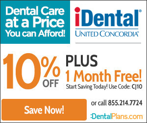 10% off and 1 Month Free with Coupon code – CJ10 iDental Discount Plan by United Concordia