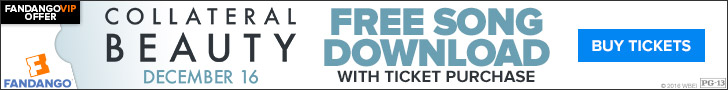 Fandango - Free song download with Ticket Purchase to Collateral Beauty