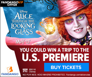 Alice Through the Looking Glass Premiere Sweepstakes